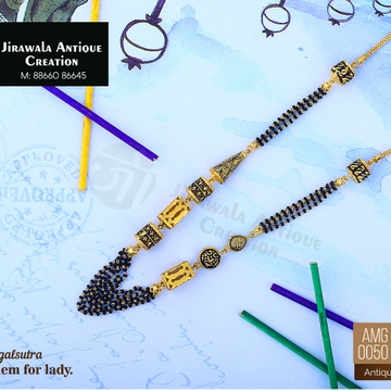916 Gold Antique Micro Mangalsutra AMG-0050