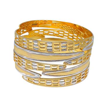 1 Gram Gold Forming Fancy Bangles MGA - BGE0471