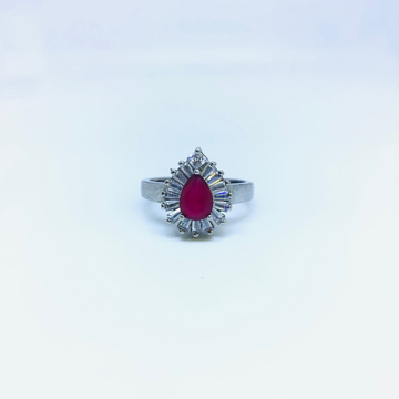 FANCY STERLING SILVER STONE RING by