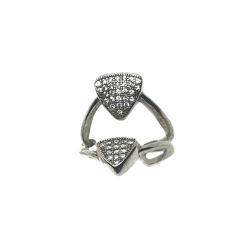 925 Sterling Silver Triangle Shape Ring MGA - LRS0106