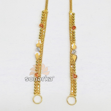Light Weight Gold Earchain Kanser  SK- K007