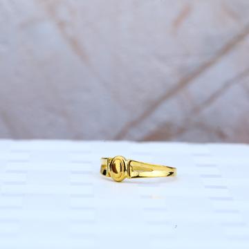 Plain Gold Cz Kids Ring-KR60