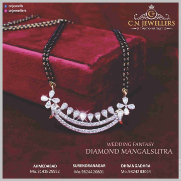 MANGALSUTRA  CZ 18CT by