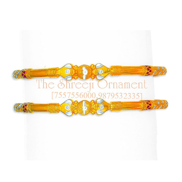916 Gold Designer Modhiya Copper Kadali - 0030