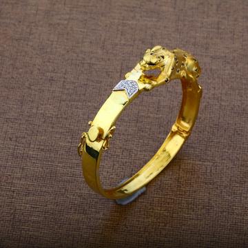 Mens 916 Gold Kada-MKB09