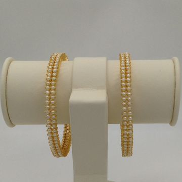 Freshwater White Button Pearls Bangles JBG0036