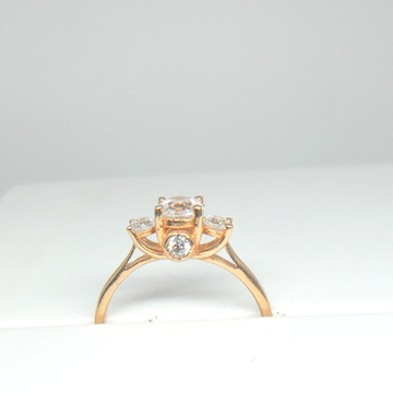 18KT Rose Gold Special Engagement Ring for ladies LRG0485