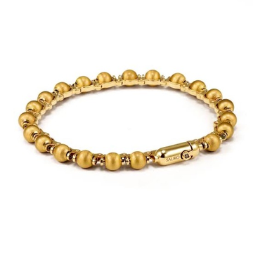 22kt round beads Yellow Gold Bracelet For Men and women JKB066