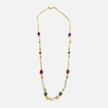 916 Gold Antique Colorstone Mala RHJ-4532