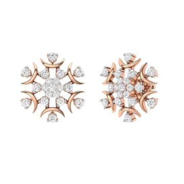 18KT Rose gold Kekoa Stud Earrings  for  Women