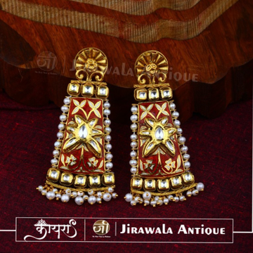 Antique Jadau Bridal Earring