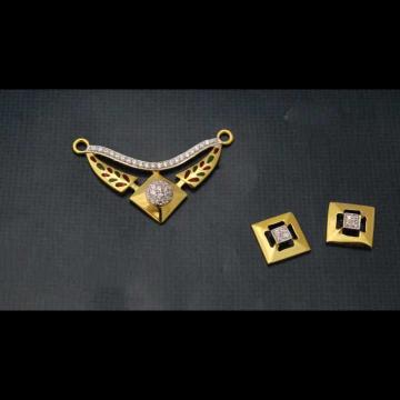 22 K Gold Fancy Pendant Set. nj-p01182