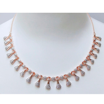 18K Rose Gold Attractive Necklace For Wedding MJ-N... by