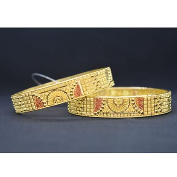 22KT Gold Fancy Bangle Kada MK-B05 by