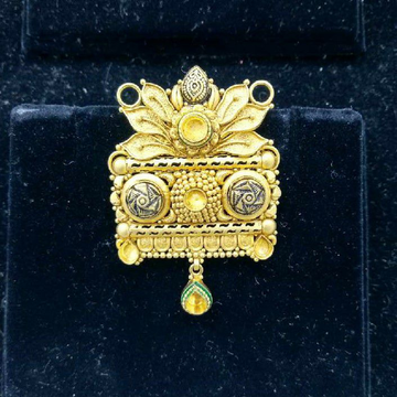916 Gold Fancy Jadtar Mangalsutra Pendant by