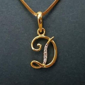 """22 CT GOLD PENDENT IN SINGLE LATER """"D"""""""