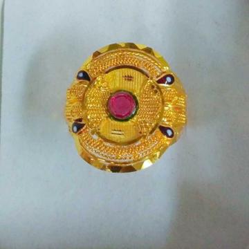 916 GOLD FINGER RING LR0003