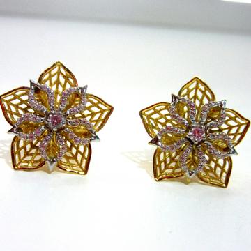 Gold 22k 3d Earrings by