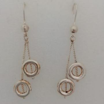 sterling silver latkan style fancy earrings by Vinayak Gold