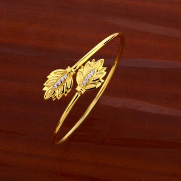 18CT CZ Women's Fancy Hallmark  Kada Bracelet LKB1...