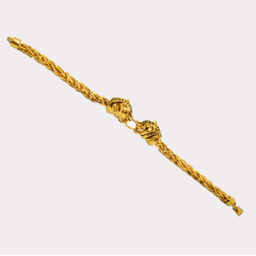 916 Gold Indian Rajwadi Gents Lucky Bracelet