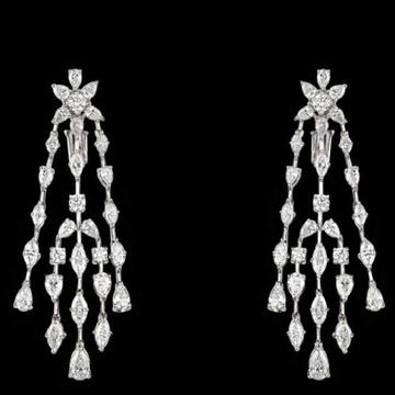 Diamonds Ear Hangings JSJ0018
