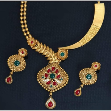 916 rajwadi antique necklace Set
