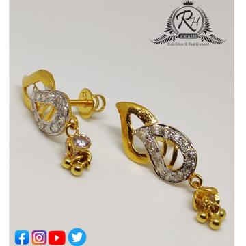 22 carat gold antique earrings RH-ER261