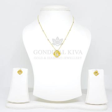 18kt gold pendant set gchp22 - gft395
