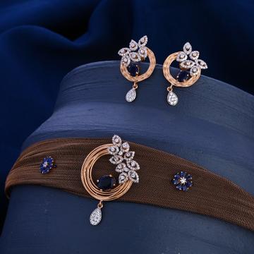 750 Rose Gold Gorgeous Hallmark Necklace Set RN301