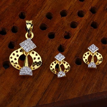 916 gold cz Pendant Set ps-0007