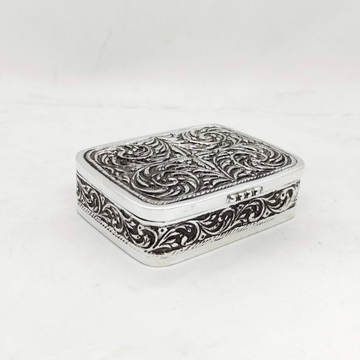 hallmarked Silver Box for Gifting In Antique Fine...