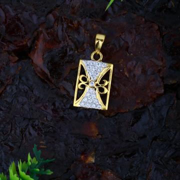 916 gold fancy cz diamond pendant jj-p045
