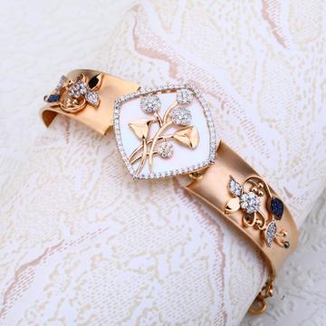 Ladies kada bracelet cz Rosegold 18ct by