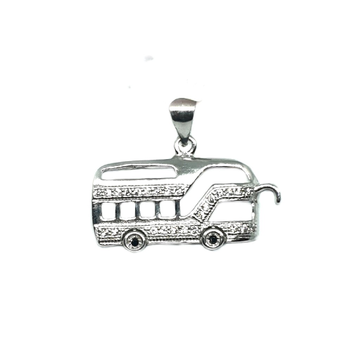 925 Sterling Silver Bus Pendant MGA - PDS0065
