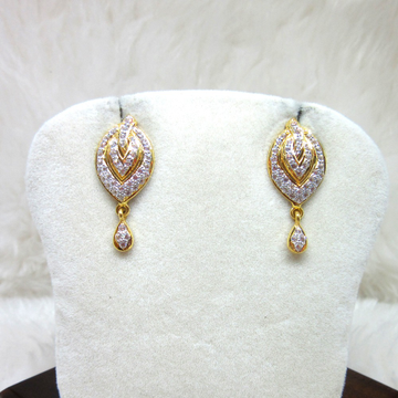 Gold Fancy Casting Diamond Earring