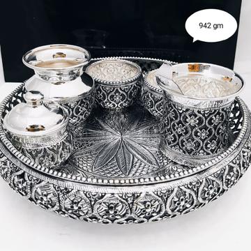 Silver pooja thali set jys0025