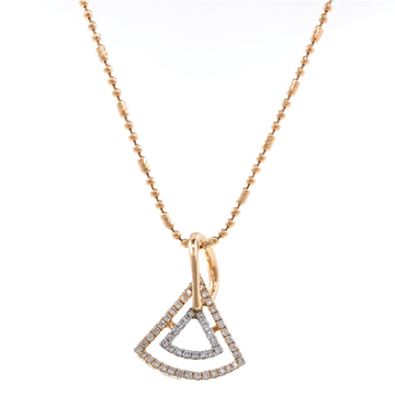 Bonita Pie Shaped Diamond Pendant In 18k Rose Gold 9SHP43