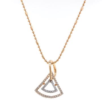 Bonita Pie Shaped Diamond Pendant In 18k Rose Gold...
