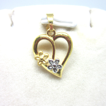 Heart With Little Flower Design Pendent