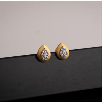 916 gold cz  earring