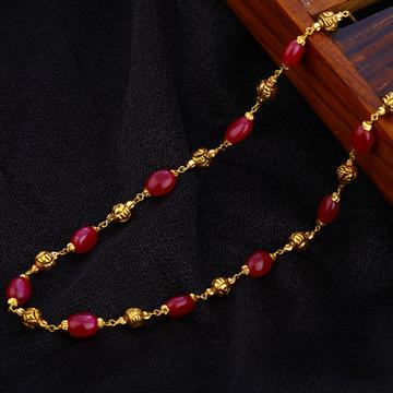22KT Gold Ladies Designer Antique Chain Mala AC188