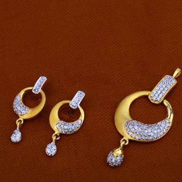 22Ct Gold Hallmark Stylish Pendant Set FPS76