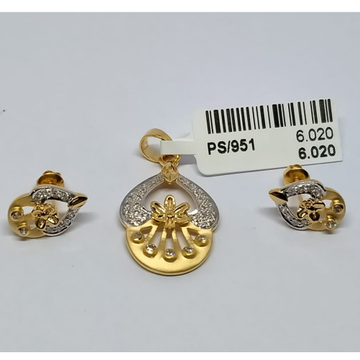PENDANT SET [916 GOLD] by Shreeji Jewellers