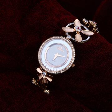 Ladies Rose Gold 18K Watch-RLW63