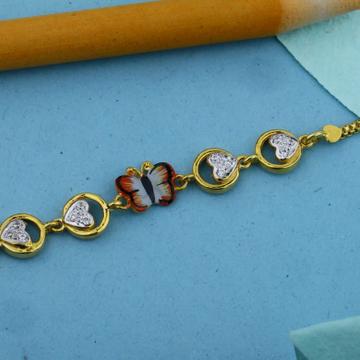 22kt yellow gold butterfly rakhi for kids