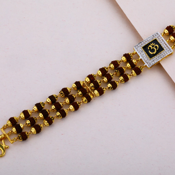 Mens Gold Rudraksha Bracelet-MRB07