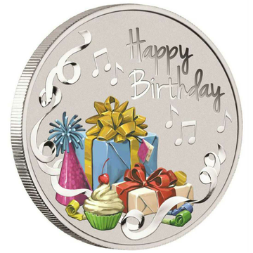 999 Happy Birthday Coloring Gift Round Coin Ms-3334