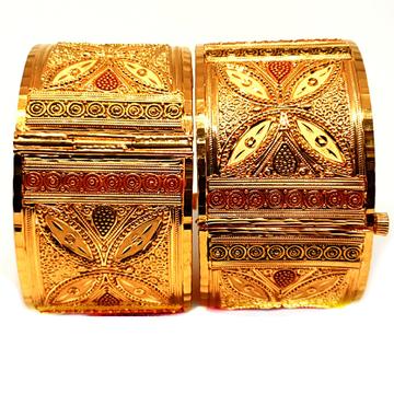 One gram gold forming kolkati bracelet mga - kpe0001