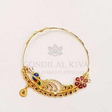 20kt gold nath gnt80 by